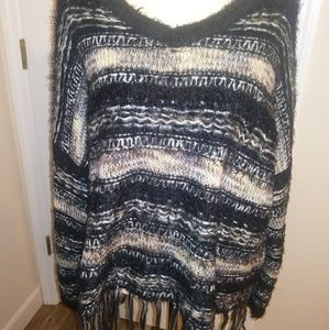Altar'd State big fuzzy fringed boho sweated